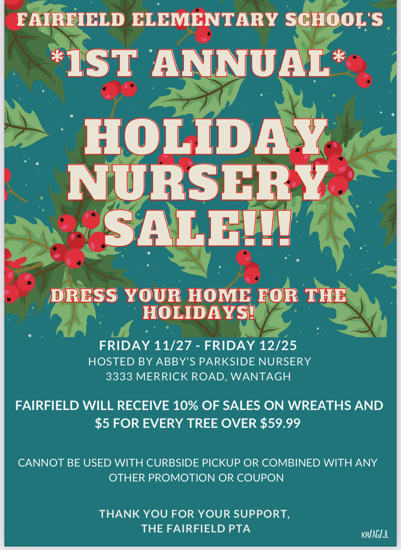 1st Annual Holiday Nursery Sale
